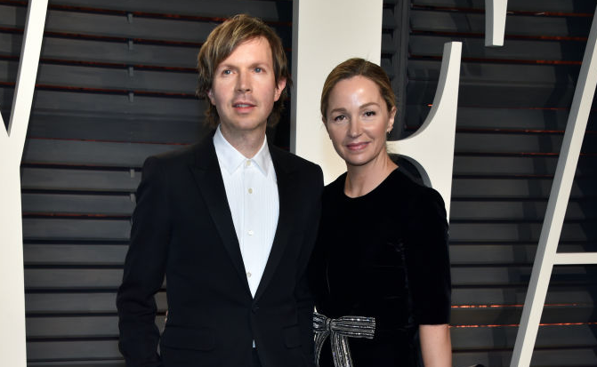 Beck and actor Marissa Ribisi attend the 2017 Vanity Fair Oscar Party