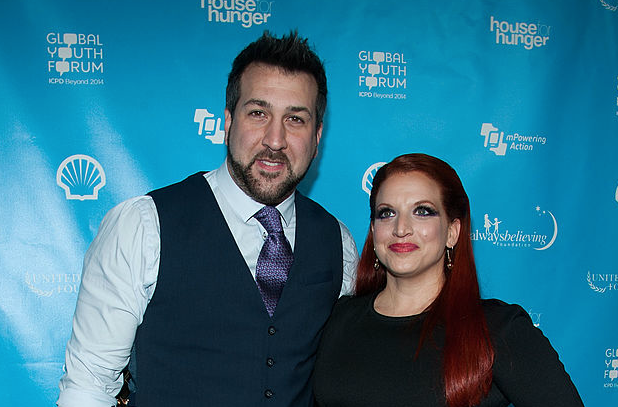 Joey Fatone and Kelly Baldwin arrive at the mPowering ActionPre-GRAMMY Launch Event