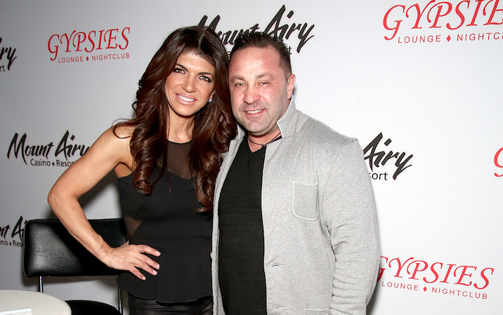 Teresa and Joe Giudice pose at an event.