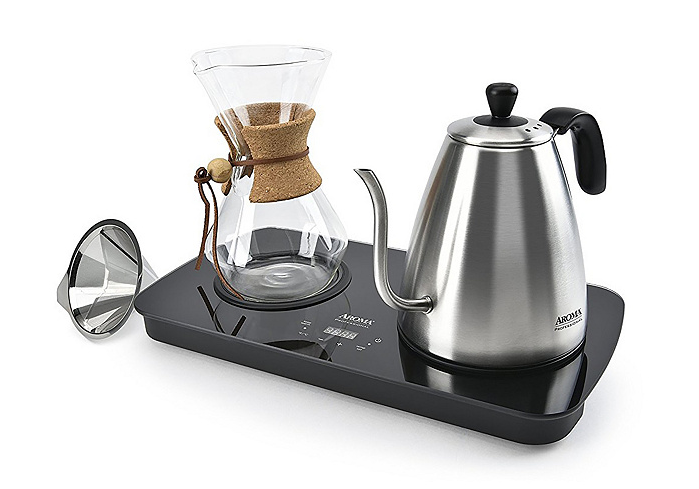 Aroma 4-Cup Digital Pour Over Coffee Set