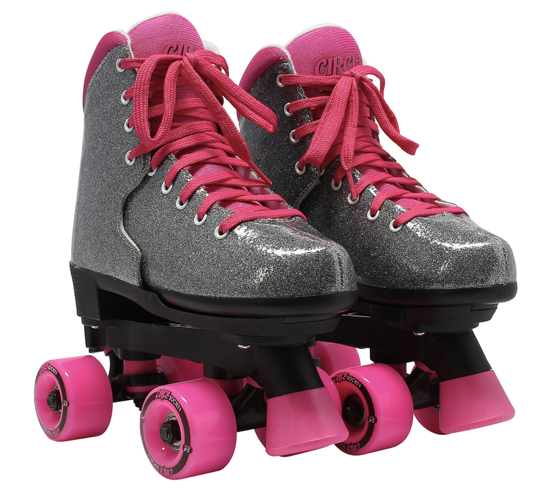 Bling Sizzling Pink Adjustable Skates