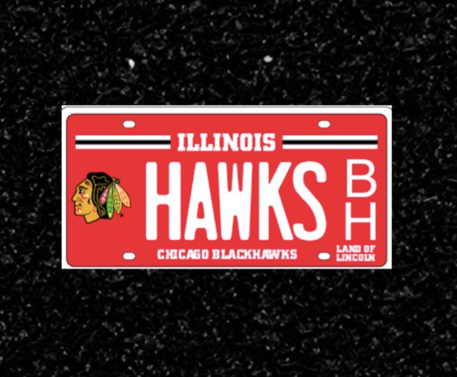 Blackhawks Illinois Plate