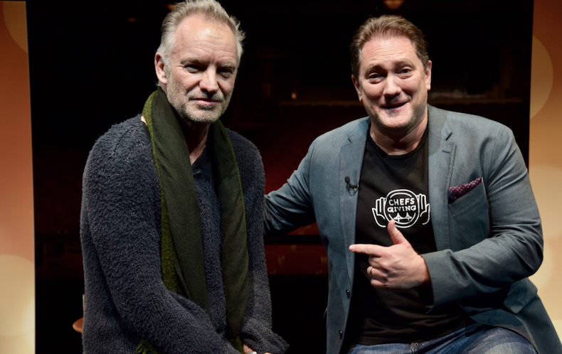 Liam Mayclem with music legend Sting.