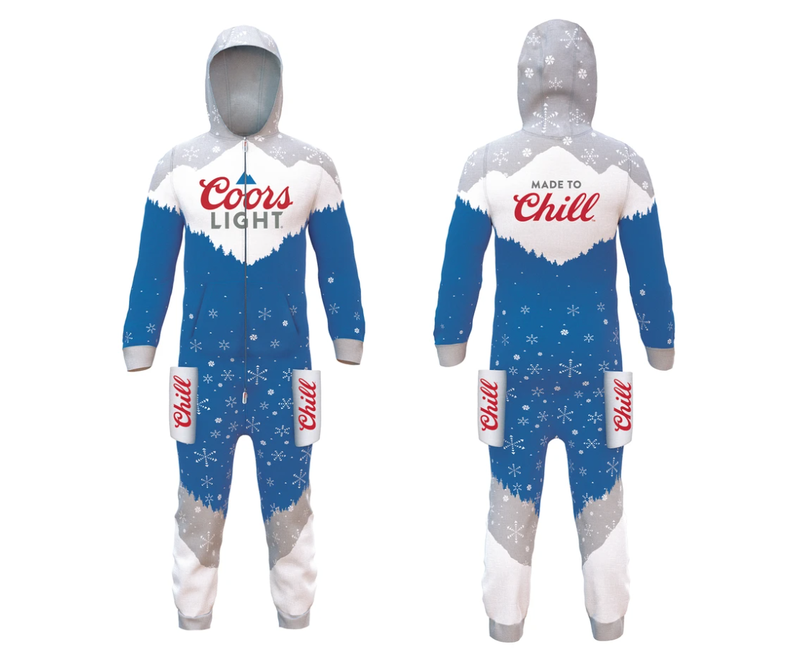 Coors Light holiday onesie
