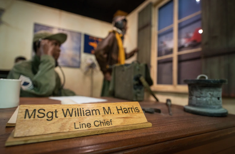 Artifacts from the Tuskegee Airmen exhibit