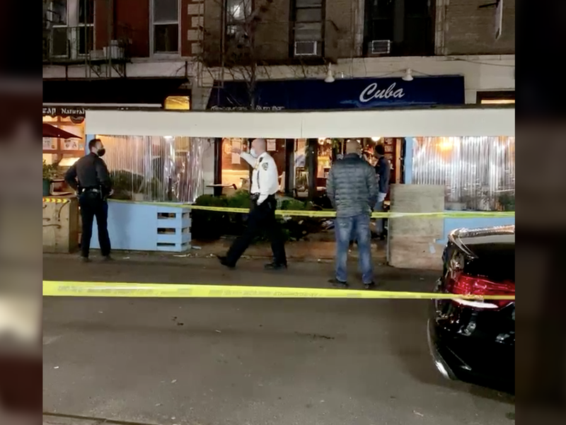 Car crashes into NYC restaurant
