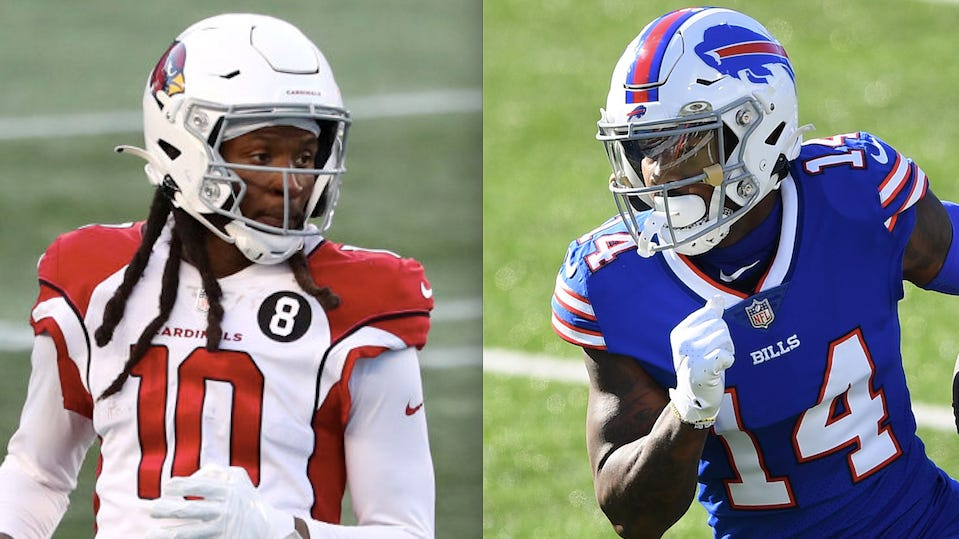 Offseason movers DeAndre Hopkins, Stefon Diggs lead respective conferences in WR Pro Bowl voting