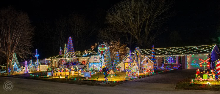 Holiday lights in STL area