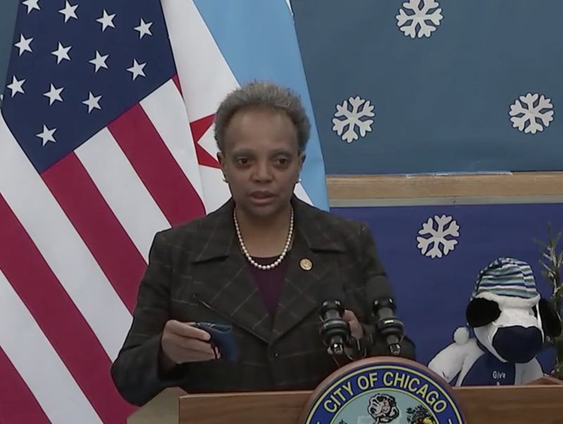 Mayor Lightfoot says the city is getting fewer first dose COVID vaccines than when vaccines first started coming out, and she wants that changed.