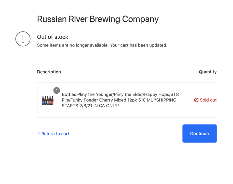 Many Pliny the Younger fans were greeted with this dreadful screen after getting through the virtual line.