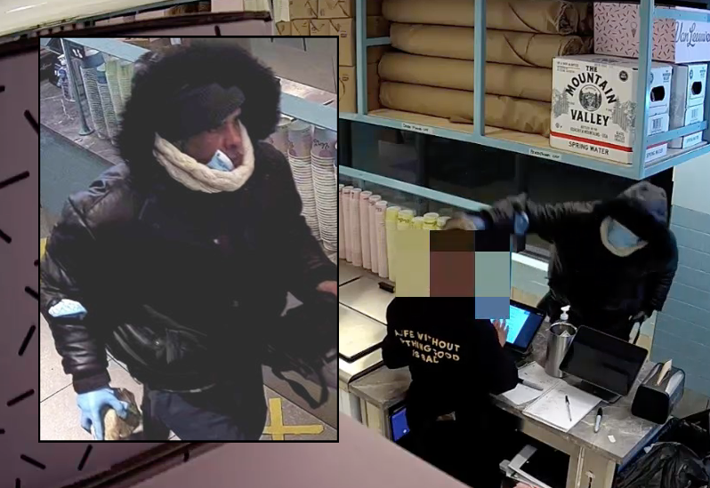 Ice cream shop worker attacked with large rock in string of Manhattan robberies