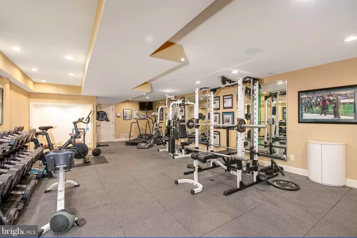 The large home gym at 701 Garwood Road.