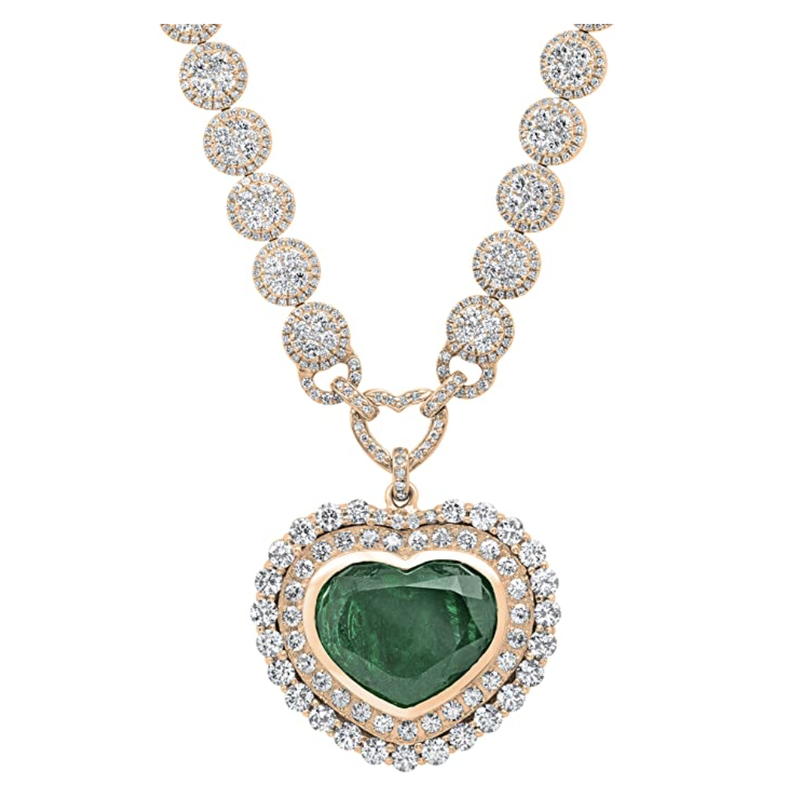 Dazzlingrock Collection Heart Necklace