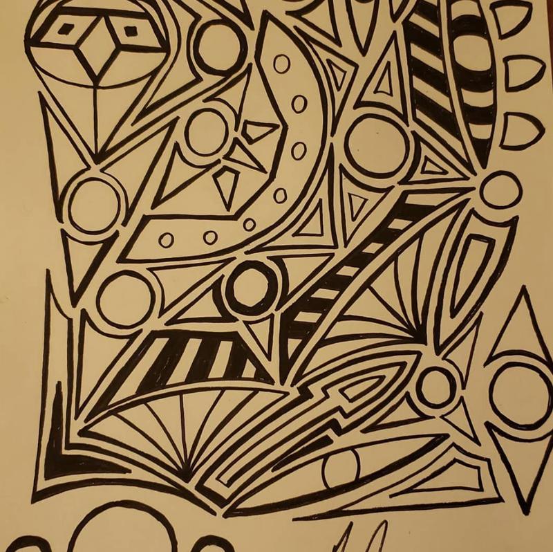 One of Elgin District U-46 Supt. Tony Sanders' doodles