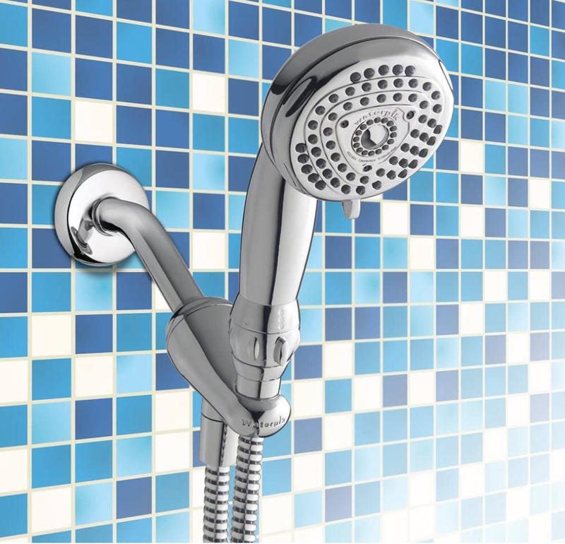Waterpik ECO-563 EcoFlow 5-Mode Low Flow Water Saving Hand Held Shower Head, Chrome