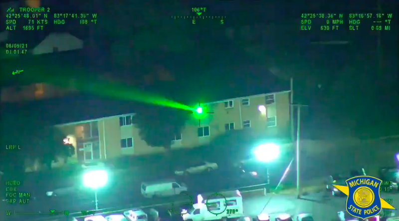 Detroit man faces charges after shining laser at police helicopter