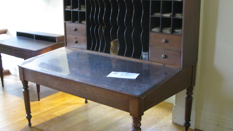 Lincoln sat here: Historic desk restored as part of exhibit