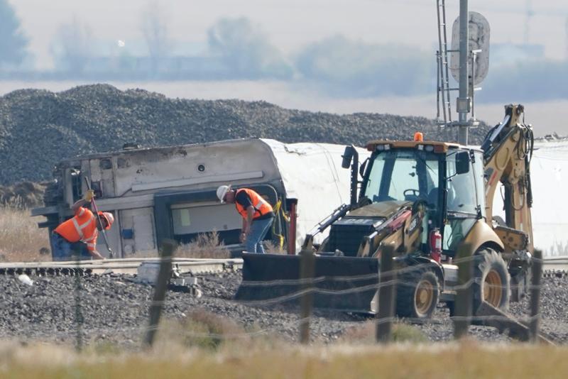 Scene of Amtrak derailment