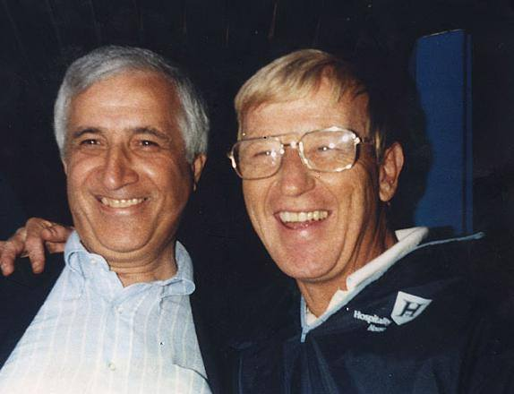 Sid with Lou Holtz