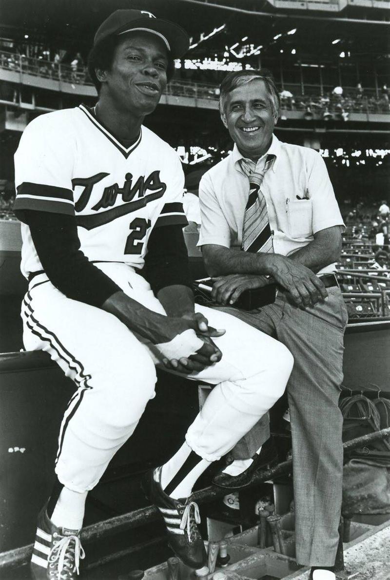 Sid with Rod Carew