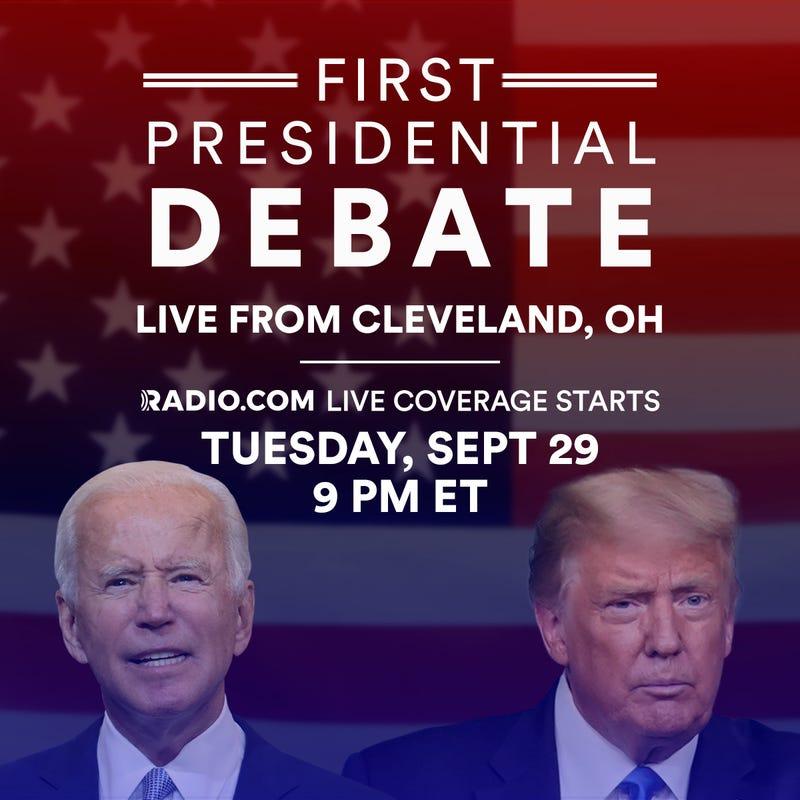 trump biden first 2020 presidential debate on radio.com