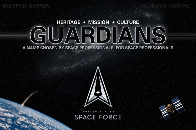 The graphic shared by U.S. Space Force on Friday in announcing their new name.