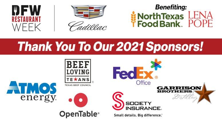 DFW Restaurant Week Sponsors