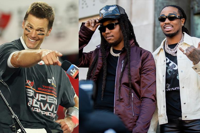 Tom Brady, Takeoff and Quavo