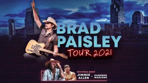 KSON Presents: Brad Paisley: Tour 2021