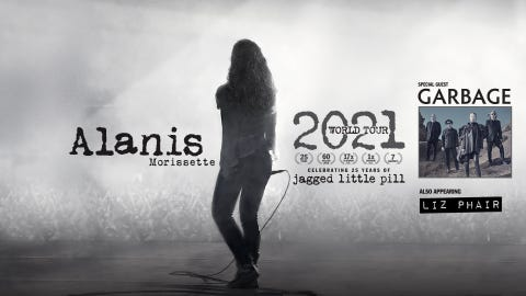 RESCHEDULED - Alanis Morissette with special guest Garbage