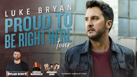 "Luke Bryan ""Proud To Be Right Here"" Tour - Raleigh"