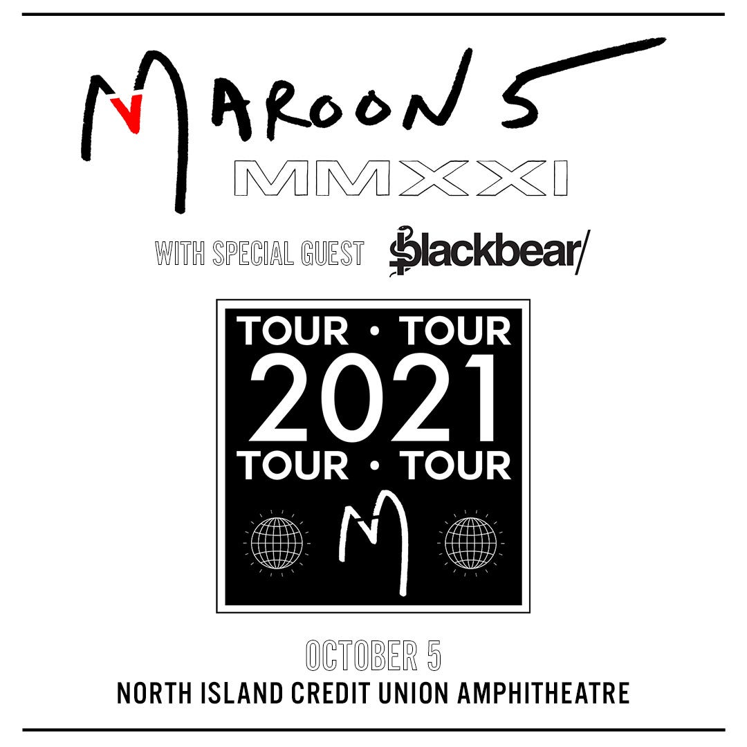 Listen for your chance to win tickets to Maroon 5!