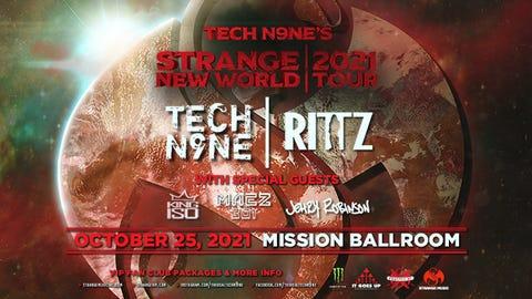 Tech N9ne's Strange New World Tour 2021