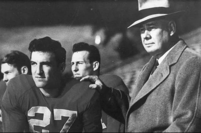 Robert Reese Neyland (right) poses for a photo during his time as head football coach at the University of Tennessee, beginning in 1925.