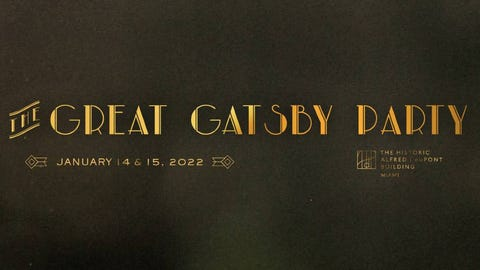 The Great Gatsby Party: Miami