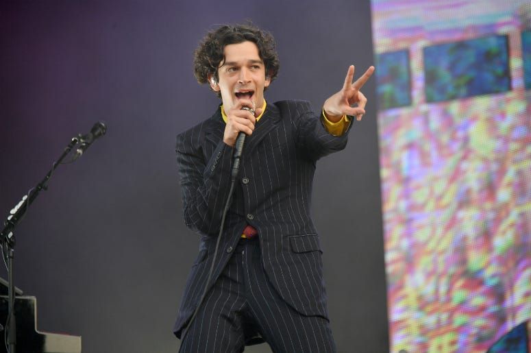 Matty Healy of the 1975 performs at the 2019 Governors Ball Festival