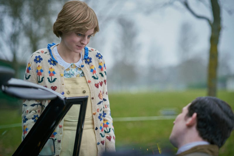 "Josh O'Connor and Emma Corrin as Prince Charles and Princess Diana in the fourth season of Netflix's ""The Crown"""