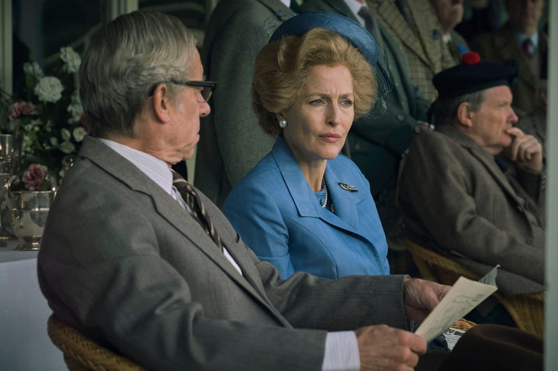 "Gillian Anderson as Margaret Thatcher in the fourth season of Netflix's ""The Crown"""