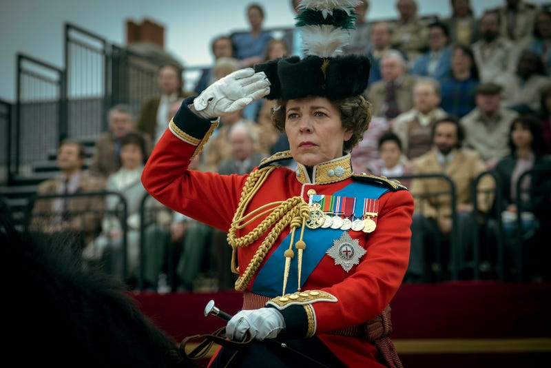 "Olivia Colman as Queen Elizabeth II in the fourth season of Netflix's ""The Crown"""