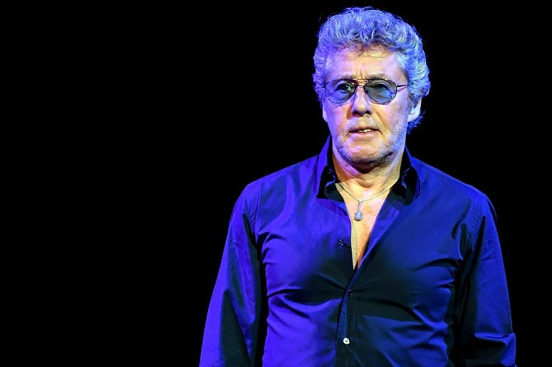 Singer Roger Daltrey of The Who performs on the first night of the band's residency at The Colosseum at Caesars Palace on July 29, 2017