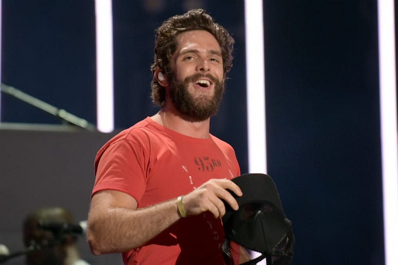 Thomas Rhett performs on stage during day 2 for the 2019 CMA Music Festival
