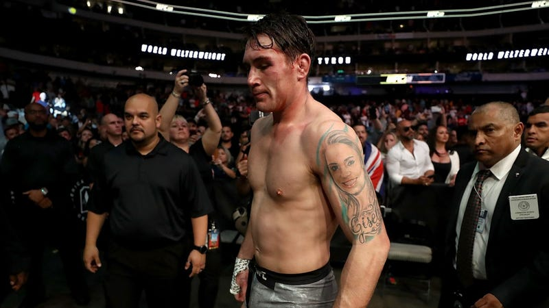 Darren Till walks away after losing to Tyron Woodley at UFC 228.