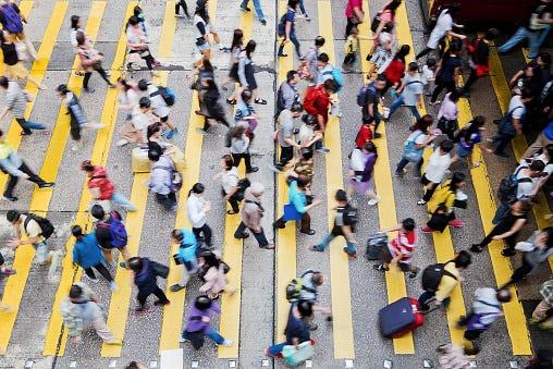 Tokyo, Japan, people crossing street