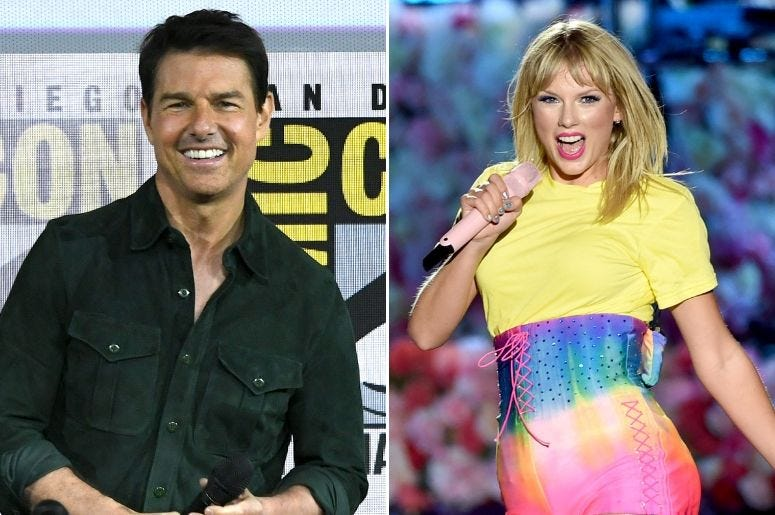 Tom Cruise and Taylor Swift