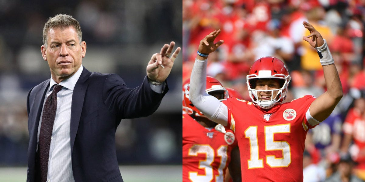 Troy Aikman Scoffs At Stat Comparing Patrick Mahomes To Him