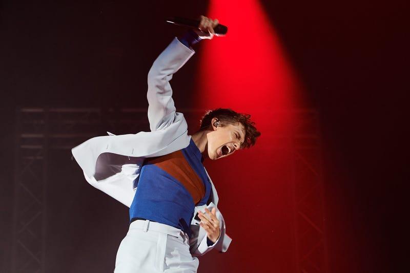 Troye Sivan performs at HBF Stadium on September 16, 2019 in Perth, Australia.