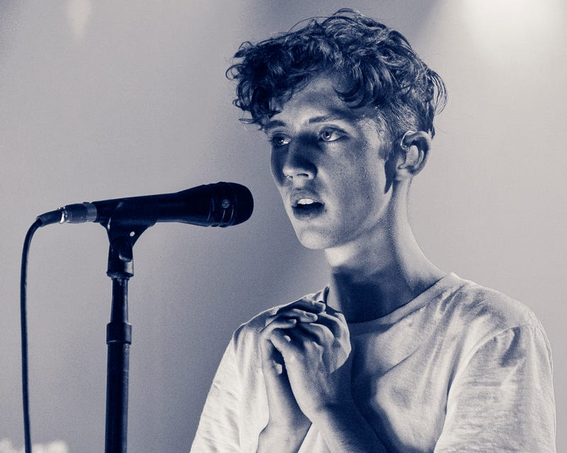 Troye Sivan performs on stage on February 9, 2016 in Burbank, California.