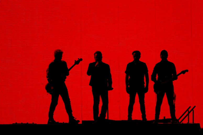 U2 perform at Suncorp Stadium on November 12, 2019 in Brisbane, Australia
