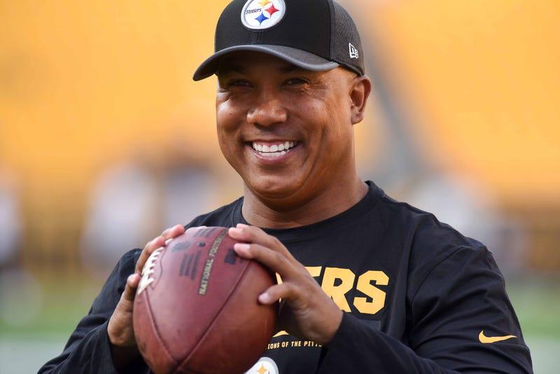 Hines Ward in Steelers gear
