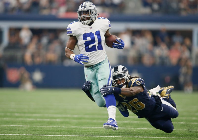 Ezekiel Elliott is in a contract battle with the Cowboys.